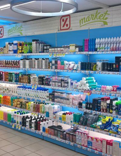 Lineal supermercado fabricado en pvc espumado impreso y vinilo